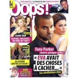 OOPS! n°79 11/03/2011  Tony Parker/ Loana/ Justin Bieber/ Carré Viiip/ David Arquette/ Drôles de couples