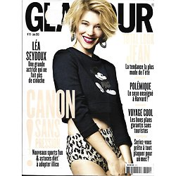 GLAMOUR n°111 juin 2013  Léa Seydoux/ Canon Sans Pression/ Total Look Jean/ Georgia May Jagger