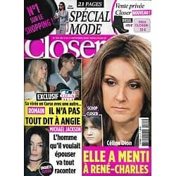 CLOSER n°221 05/09/2009  Céline Dion/ Michael Jackson/ Spécial Mode/ Chloé Mortaud