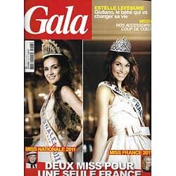 GALA n°913 08/12/2010  Miss France: Thilleman & Morel/ Estelle Lefébure/ Mylène Farmer