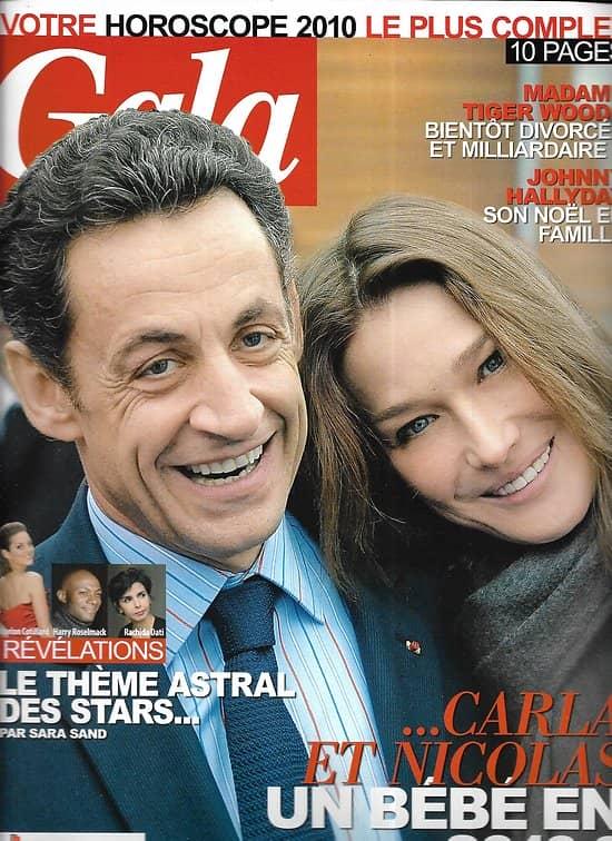 GALA n°864 30/12/2009  Sarkozy & Bruni/ Hallyday/ Julien Clerc/ Virginie Efira