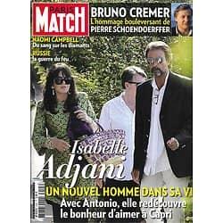 PARIS MATCH n°3195 12/08/2010  Isabelle Adjani/ Bruno Cremer/ Naomi Campbell/ Incendies en Russie