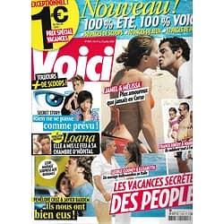 VOICI n°1184 17/07/2010  Les vacances secrètes des people: Mélissa Theuriau, Penélope Cruz, George Clooney, Ribéry/ Ronaldo/ Loana