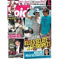 VOICI n°1180 19/06/2010  Ségolène Royal/ Johnny Hallyday/ Virginie Guilhaume/ Michael Jackson/ Adeline Blondieau