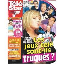 TELE STAR n°1855 21/04/2012  Les jeux télé sont-ils truqués?/ Stéphane Plaza/ Drew Barrymore