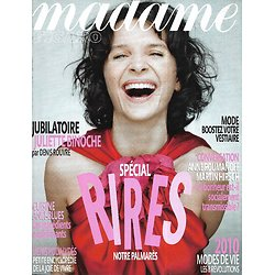 MADAME FIGARO n°20350 02/01/2010  Juliette Binoche/ Spécial rires
