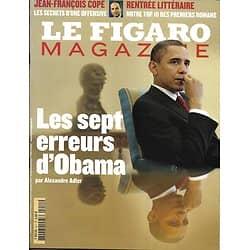 LE FIGARO MAGAZINE n°20563 11/09/2010  Les erreurs d'Obama/ Evasion: Tavira/ Rentrée littéraire