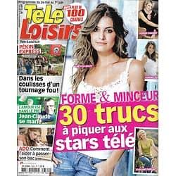 "TELE LOISIRS n°1369 26/05/2012  Secrets forme des stars/ Laëtitia Milot/ ""Pékin Express""/ Elizabeth II"