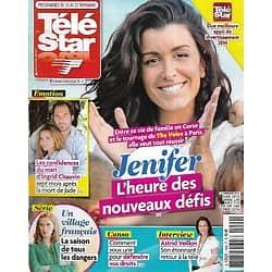"""TELE STAR n°1989 25/11/2014  Jenifer, l'heure des nouveaux défis/ Ingrid Chauvin/ Astrid Veillon/ """"Un village français""""/ Joe Dassin"""