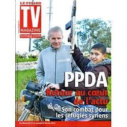 """TV MAGAZINE n°21317 17/02/2013  PPDA & les réfugiés syriens/ """"Nos chers voisins""""/ Salaires des acteurs télé"""
