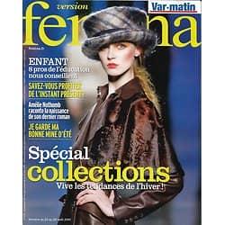 VERSION FEMINA n°438 21/8/2010  Spécial Collections/ Amélie Nothomb/ Pays de Galles