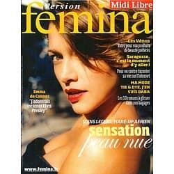 VERSION FEMINA n°328 13/07/2008  Emma De Caunes/ Mode Tie&Dye/ Saragosse/ Beauté
