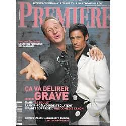 PREMIERE n°301 mars 2002  Poelvoorde & Lanvin/ B.Spears & Eminem/ Wes Anderson