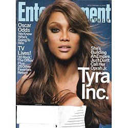 ENTERTAINMENT WEEKLY n°979 22/02/2008  Tyra Banks/ Oscars/ Daniel Day-Lewis