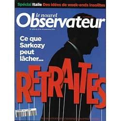 LE NOUVEL OBSERVATEUR n°2394  23/29/2010  Retraites/ Spécial Italie/ Facebook/ EDF-Proglio