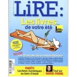 LIRE n°387 juillet-août 2010 LIVRES DE VOTRE ETE/ PAGNOL/ LIVRES NUMERIQUES