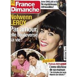 FRANCE DIMANCHE n°3469 22/02/2013  Nolwenn Leroy/ Patrick Roy/ Sinclair & DSK/ Peter Falk/ Jean Rochefort/ Sheila