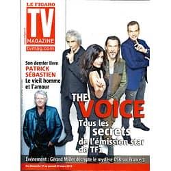 "TV MAGAZINE n°21341 17/03/2013  ""The Voice"" Jenifer, Garou, Pagny & Bertignac/ Patrick Sébastien"