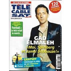 Télé Cable Sat n°1065 02/10/2010  Gad Elmaleh/ Julianne Moore/ Carla Bruni/ Laurent Gerra