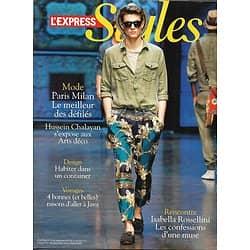 L'EXPRESS STYLES n°3131 06/07/2011  Mode défilés/ Rossellini/ Java/ Cartographie