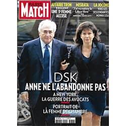 PARIS MATCH n°3238 09/06/2011 DSK & Sinclair/ La Joconde/ BHL en Syrie/ Laura Smet/ Michel Delpech