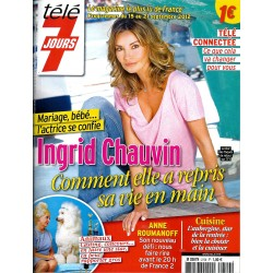 TELE 7 JOURS n°2729 15/09/2012  Ingrid Chauvin/ Roumanoff/ Robin Tunney/ Jean d'Ormesson