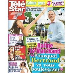 """TELE STAR n°1865 25/06/2012  """"L'amour est dans le pré""""/ Thierry Roland/ Valérie Trierweiler& Ségolène Royal"""