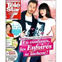 TELE STAR n°1901 09/03/2013  Les Enfoirés: Christophe Maé & Nolwenn Leroy/ Jean Dujardin/ Frédéric Taddéï