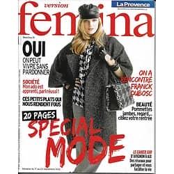 VERSION FEMINA n°546 17/09/2012  Spécial Mode/ Franck Dubosc/ Soins des Yeux