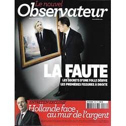 LE NOUVEL OBSERVATEUR n°2478 03/05/2012  Sarkozy: la faute/ Hollande/ La gauche & les riches/ Depardieu/ série noire en Chine/ Musso & Lévy