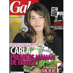 GALA n°957 12/10/ 2011  Carla Bruni/ Hollande/ Jean Dujardin/ Alyssa Milano/ Johnny Hallyday/ Boris Vian