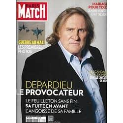 PARIS MATCH n°3322 17/01/2013  Gérard Depardieu/ Guerre Au Mali/ Golden Globes/ Kinski
