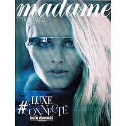 MADAME FIGARO n°21857 14/11/2014  Luxe connecté, digital visionnaire/ Xavier Niel & Edgar Morin/ Cyber-talents/ Adriana Lima/ Tilda swinton