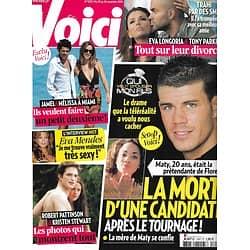 """VOICI n°1202 20/11/2010  """"Qui veut épouser mon fils?""""/ Robert Pattinson & Kristen Stewart/ Jamel & Mélissa Theuriau/ Eva Longoria & Tony Parker/ Eva Mendes"""