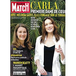 PARIS MATCH n°3168 04/02/2010  Carla Bruni & Melinda Gates/ Warren Beatty/ BHL/ Prison de Kandahar/ Haute Couture
