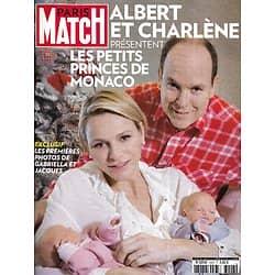 PARIS MATCH n°3423 24/12/2014  Albert & Charlène présentent les petits princes de Monaco/ Louane Emera/ Christian Clavier/ Tsunami