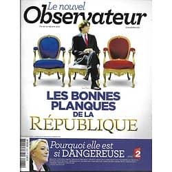 LE NOUVEL OBSERVATEUR n°2433 23/06/2011 Planqués de la république/ Marine Le Pen