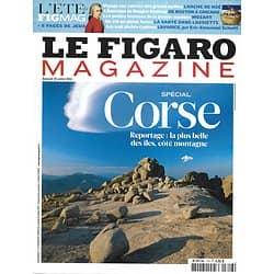 LE FIGARO MAGAZINE n°20825 16/07/2011  Spécial Corse/ Mozart/ Arche de Noé/ La folie des îles/ Mozart/ L'Amérique de Douglas Kennedy