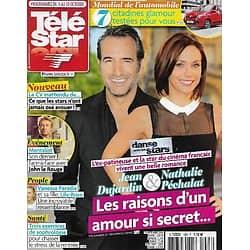 "TELE STAR n°1983 04/10/2014  Jean Dujardin & Nathalie Péchalat/ ""Mentalist""/ Lily-Rose Depp/ Gene Kelly/ Anne-Sophie Lapix/ Marc Lavoine"