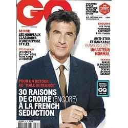 GQ n°55 septembre 2012  François Cluzet/ French lover/ Michel Gondry/ André Agassi
