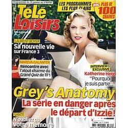 "TELE LOISIRS n°1300 29/01/2011 Katherine Heigl/ Mareva Galanter/ ""Wallander""/ Laurent Boyer"