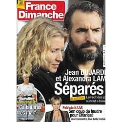 FRANCE DIMANCHE n°3472 15/03/2013  Jean Dujardin & Alexandra Lamy/ Patricia Kaas/ Mimie Mathy/ Charlotte Julian/ L'affaire Outreau