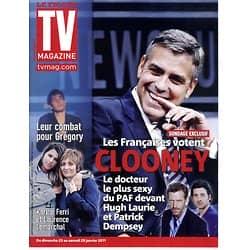 TV MAGAZINE n°20675 22/01/2011 George Clooney/ Hugh Laurie/ Karine Ferri & Grégory Lemarchal/ MathildaMay