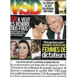 VSD n°1747 17/02/2011 DSK & Sinclair/ Femmes de dictateurs/ Djihad & cités