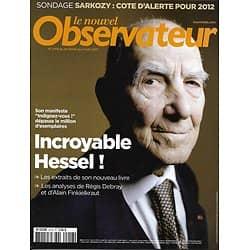 LE NOUVEL OBSERVATEUR n°2416 24/02/2011 Hessel/ Anonymous/ Sarkozy/ Hermes/ Libye/ Anglais