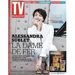 TV MAGAZINE n°21815 28/09/2014  Alessandre Sublet/ Carole Bouquet/ Marine Le Pen/ Halle Berry