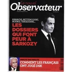 LE NOUVEL OBSERVATEUR n°2446 22/09/2011 Dossiers noirs de Sarkozy/ DSK/ Spécial Croisières/ G.Collard/ Marchés financiers