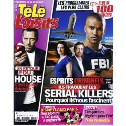 "TELE LOISIRS n°1311 16/04/2011  ""Esprits Criminels""/ ""Dr House""/ ""XIII""/ ""Pékin Express"""