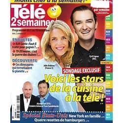 TELE 2 SEMAINES n°231 03/11/2012  Les stars de la cuisine à la télé: Cyril Lignac & Julie Andrieu/ Spécial USA