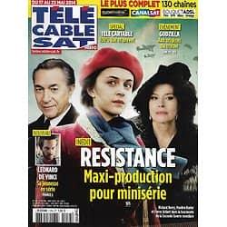 """Télé Cable Sat n°1254 17/05/2014  """"Résistance"""" avec Ardant, Burlet & Berry/ Leonard de Vinci/ """"Godzilla"""""""